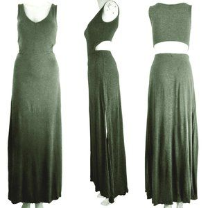 Dynamite Sleeveless PeekaBoo Back Gray Dress